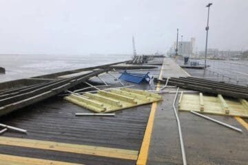 Section of the Wildwood Boardwalk Destroyed By Wind