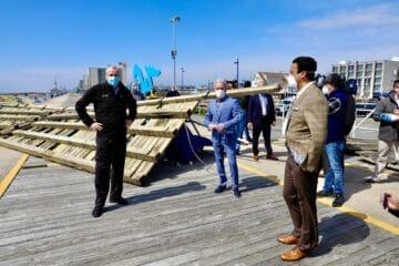 Gov Murphy Visits Damaged Wildwood Boardwalk
