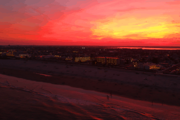 A Spectacular Wildwood Sunset (Drone)