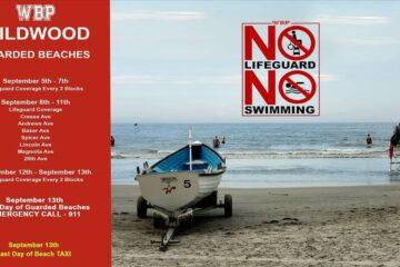 Wildwood Beach Patrol Posts End of the Season Dates