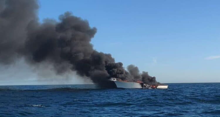 Coast Guard Rescues Two From Boat Fire Off Jersey Coast