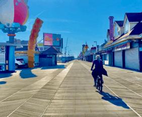 Biking The Wildwood Boardwalk - [In November]