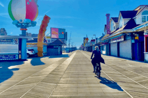 Biking The Wildwood Boardwalk - [In November]