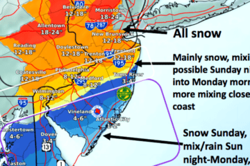 New Jersey Nor'Easter Update - Snow Totals