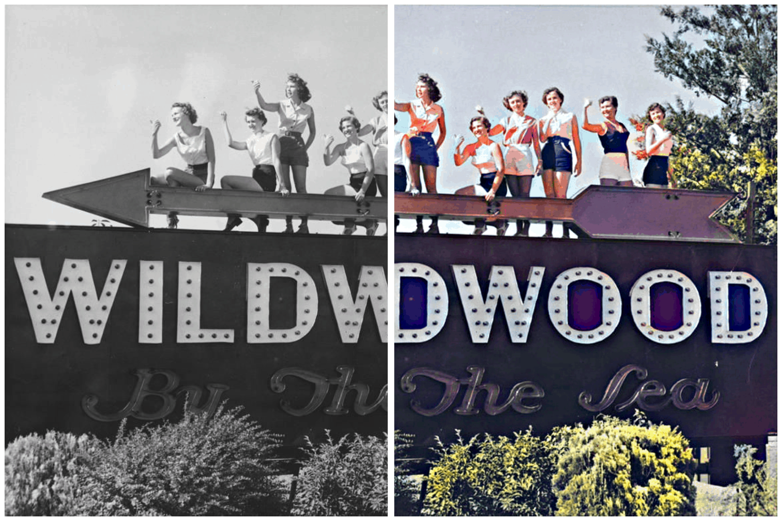 Colorized Historical Wildwood Photos - Part 1