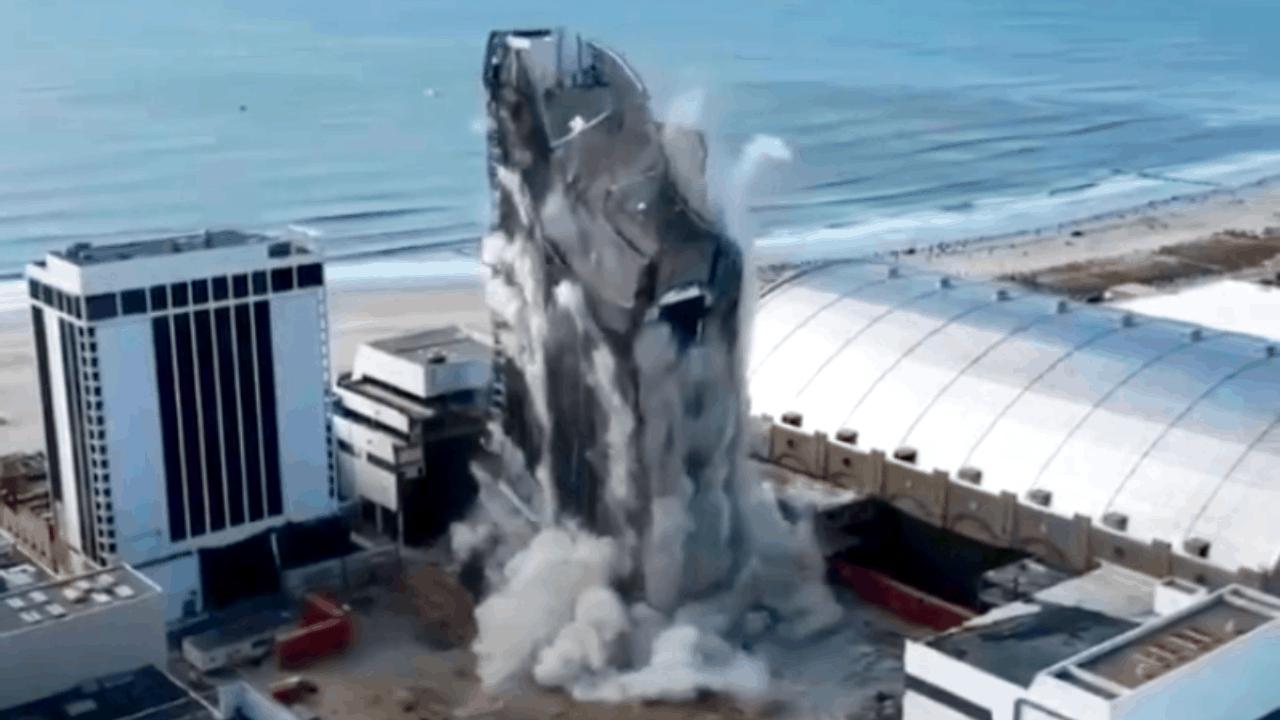 Trump Plaza Demolition Video Via Drone!