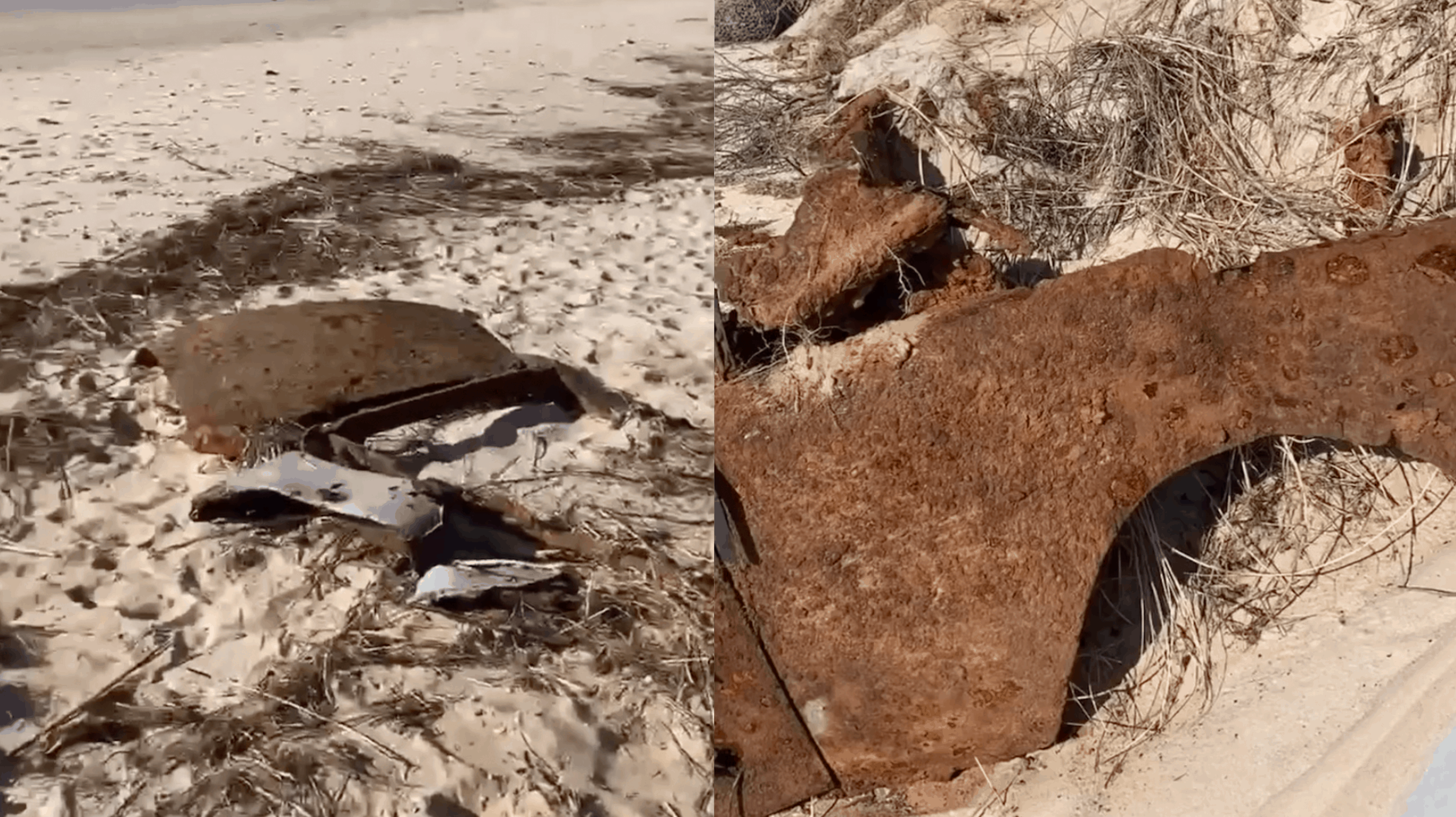 Beach Erosion Reveals Old Car In Cape May County