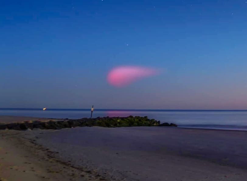 Explaining That Mysterious Pink Cloud From Last Night