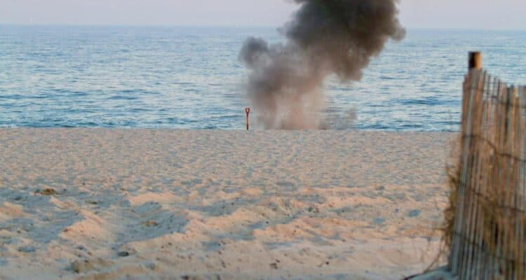 Found Unexploded WWII Ordnances Detonated On Cape May Beach