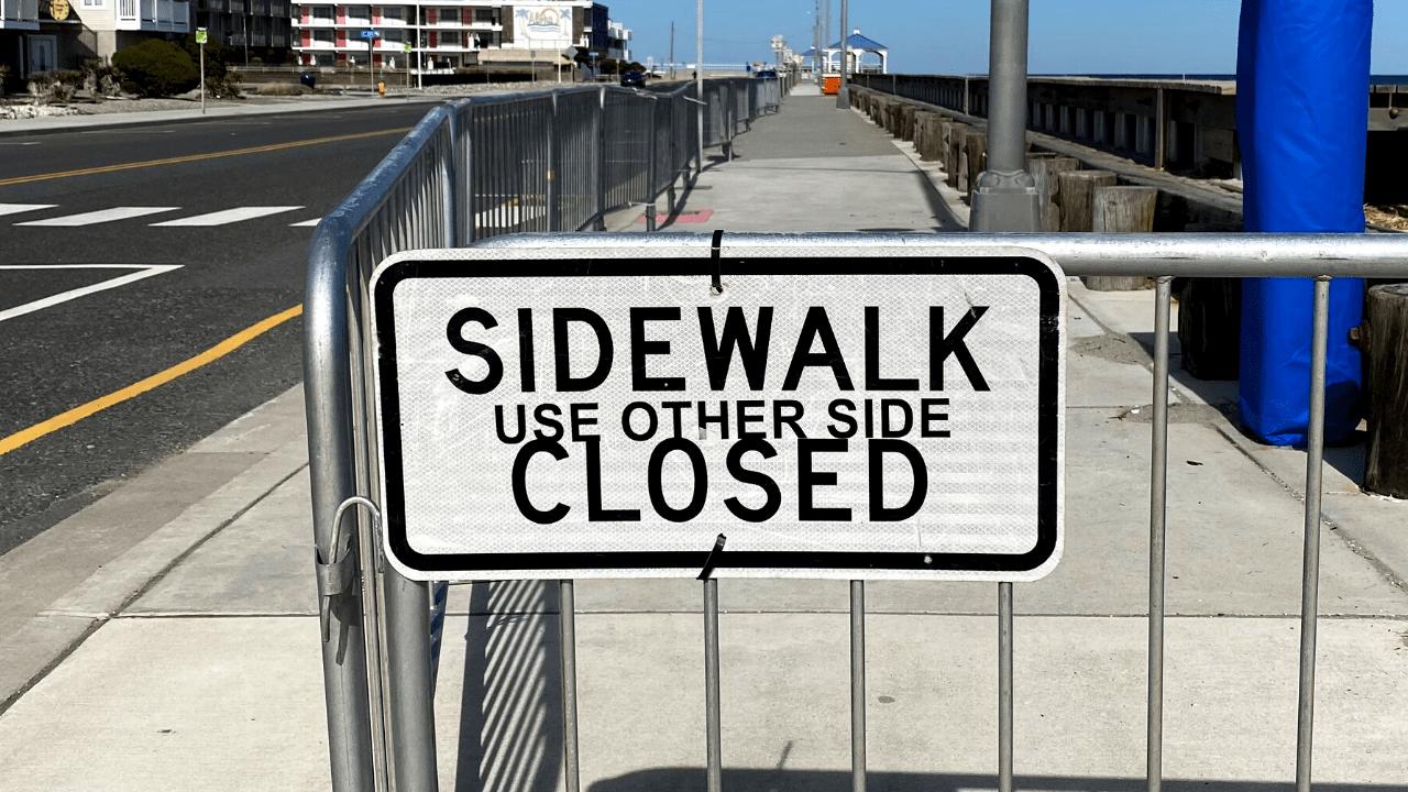 Why N. Wildwood's Beach Sidewalks Are CLOSED
