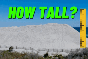 How Tall Are N. Wildwood's Sand Piles?