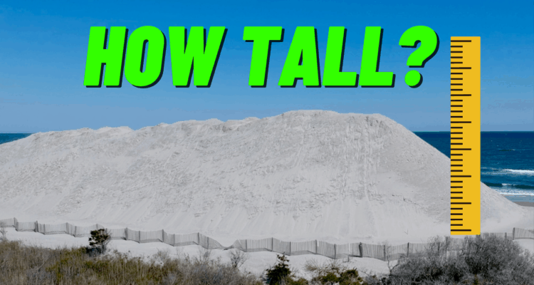 How Tall Are N. Wildwood's Sand Piles?