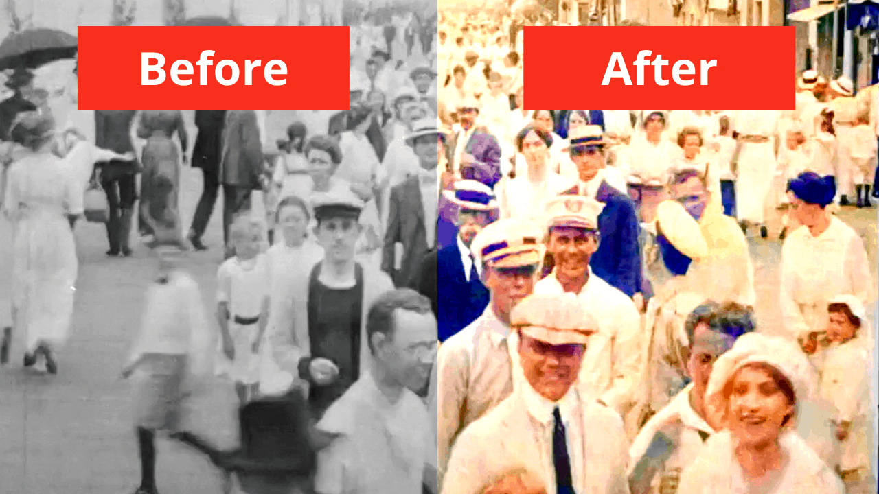 Wildwood 1915 In Color - Using Artificial Intelligence