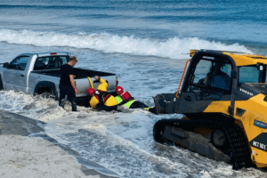 Truck Stuck In N. Wildwood Surf