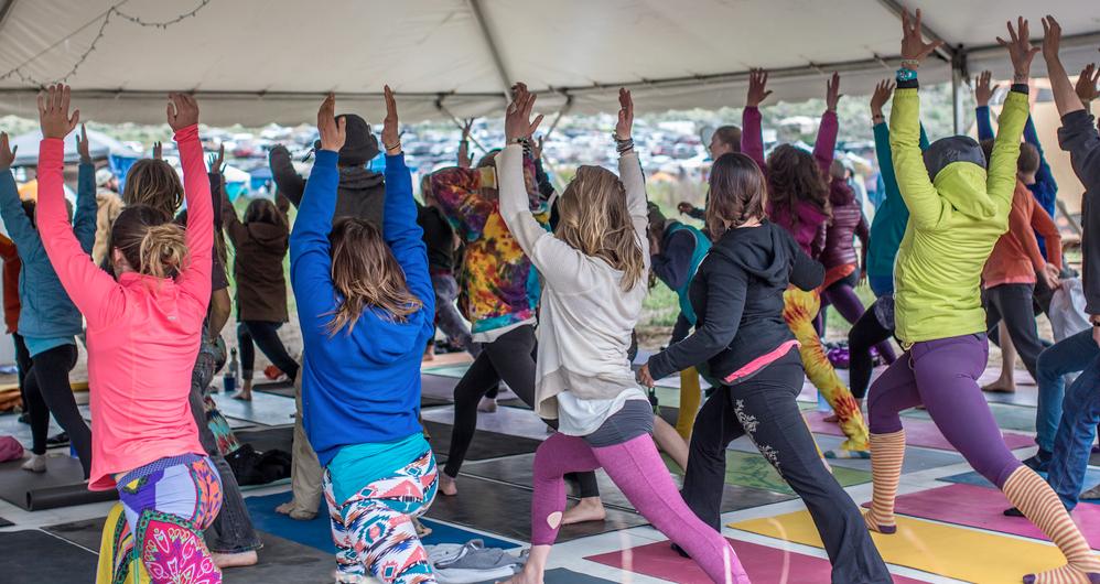 Campout yoga sessions