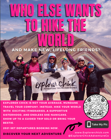 Explorer chick adventure travel for women