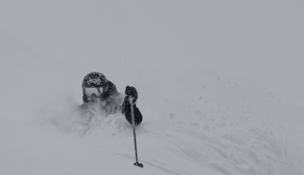 A beautiful ski picture but Chris Anthony's Pain was always with him