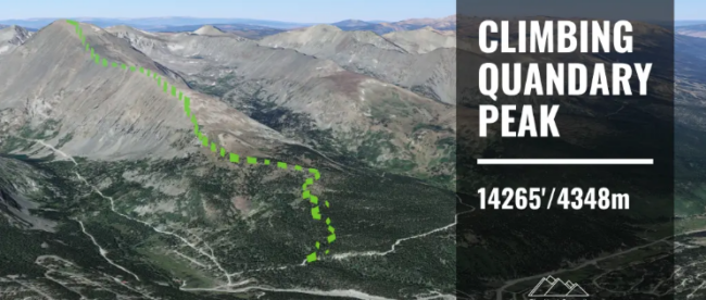 Hiking Quandary Peak
