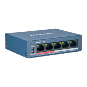Switch POE No Administrado Fast Ethernet de 4 Puertos