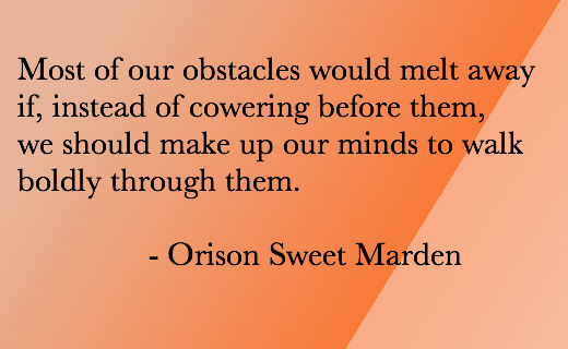 Motivational Quote - Moving Obstacles