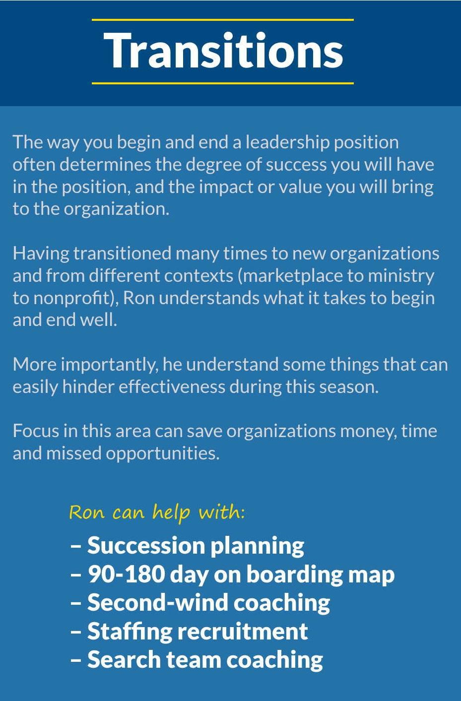 5T Leadership - Transitions