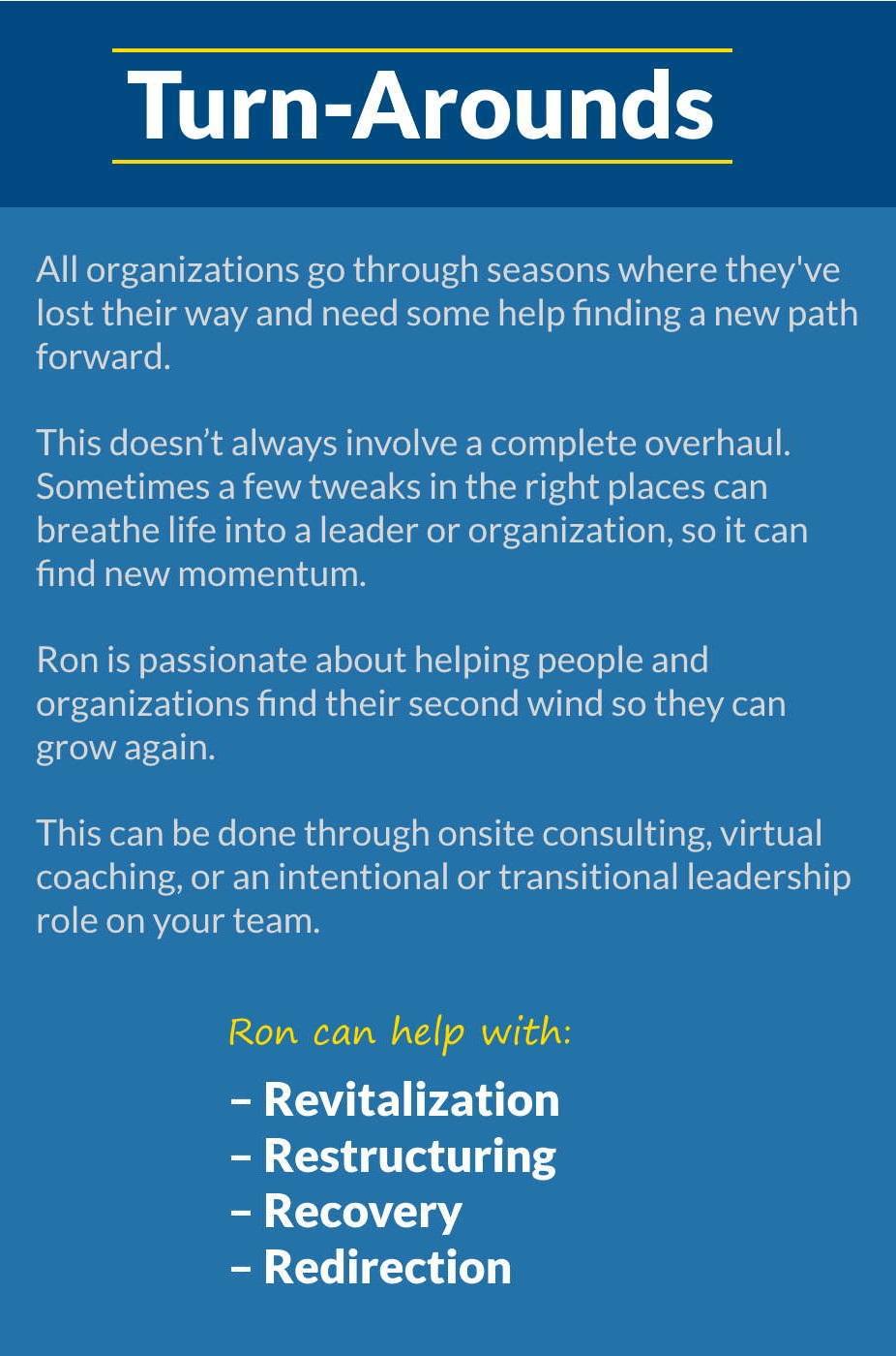 5T Leadership - Turnarounds
