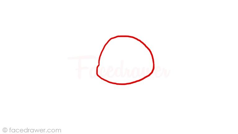 How to draw chibi Pikachu Step 1