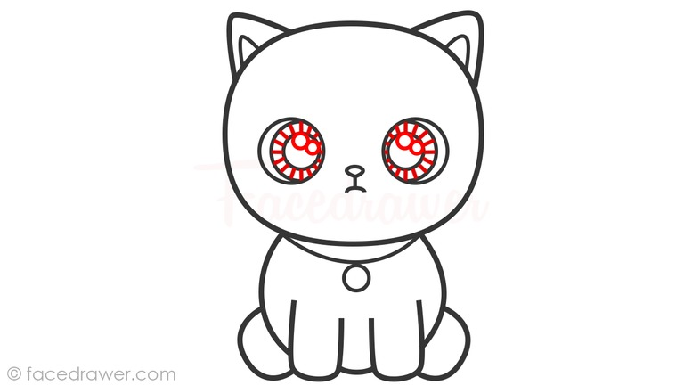 how to draw cute cat step 8