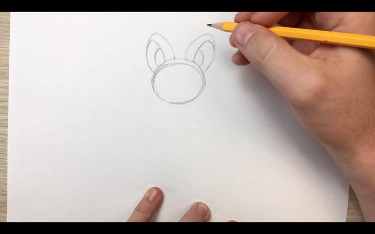 emolga pokemon drawing lesson step 3