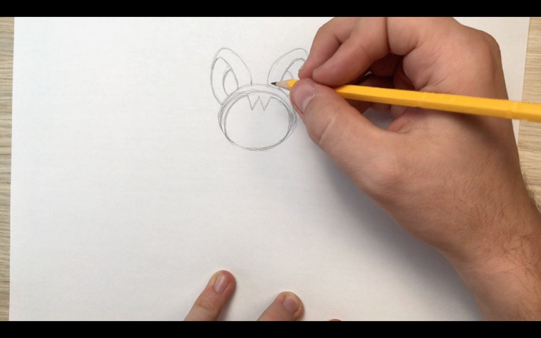 emolga pokemon drawing lesson step 4