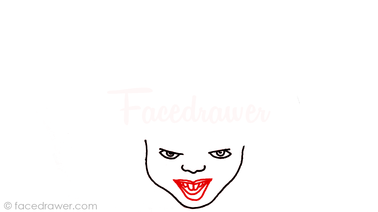 how to draw pennywise step 4