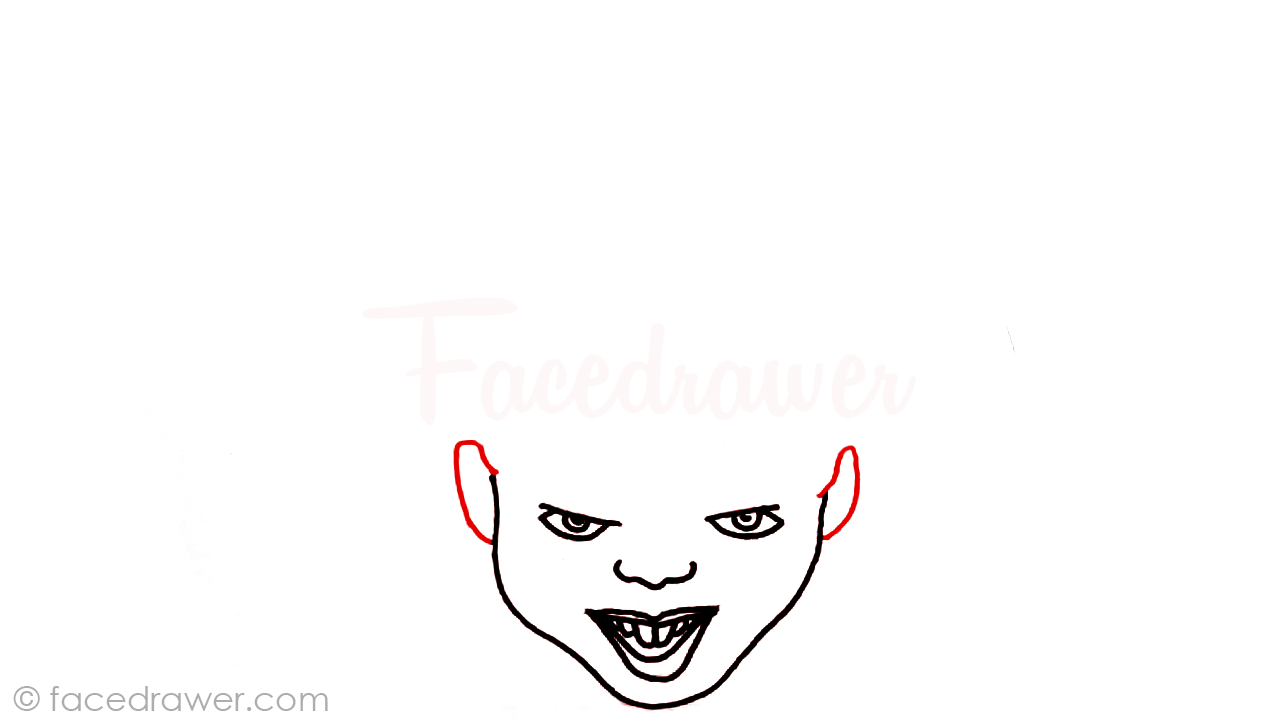 how to draw pennywise step 5