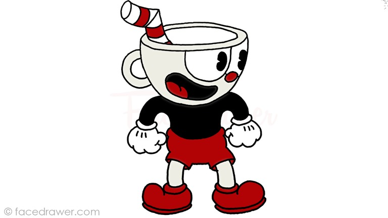 how to draw cuphead step 13