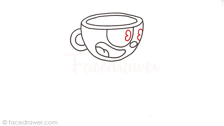 how to draw cuphead step 6