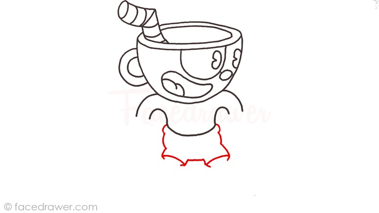 how to draw cuphead step 9