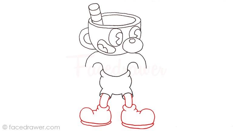 how to draw mugman cuphead step 11