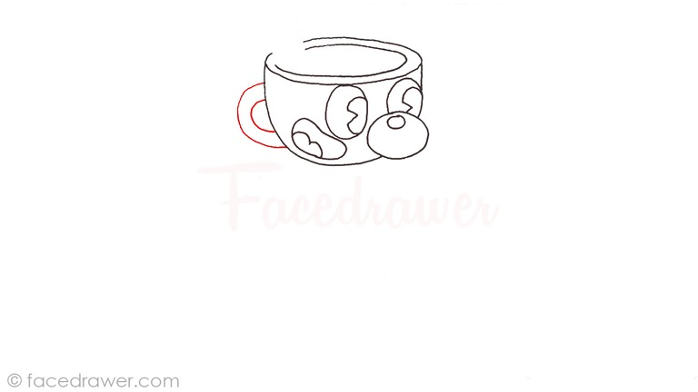 how to draw mugman cuphead step 6