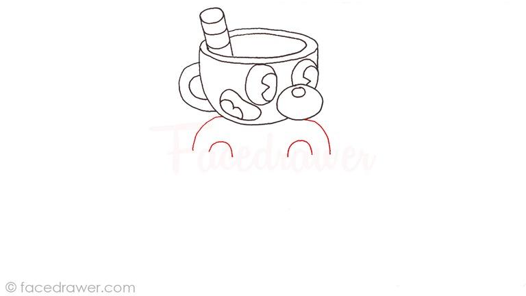 how to draw mugman cuphead step 8
