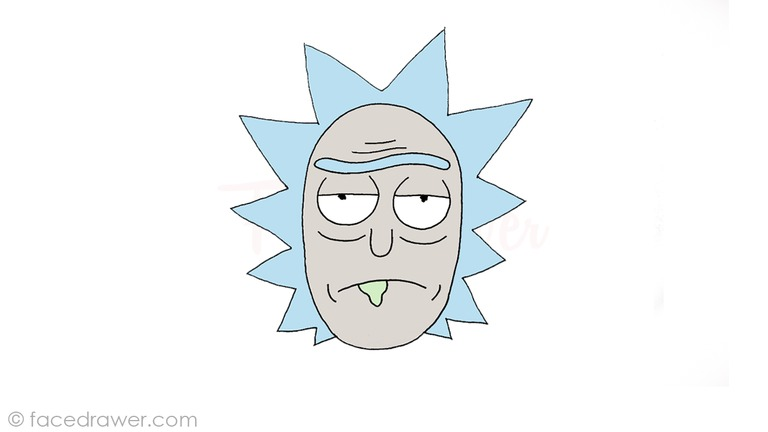 how to draw rick from rick and morty step 9