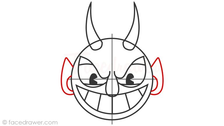 how to draw the devil from cuphead step 9