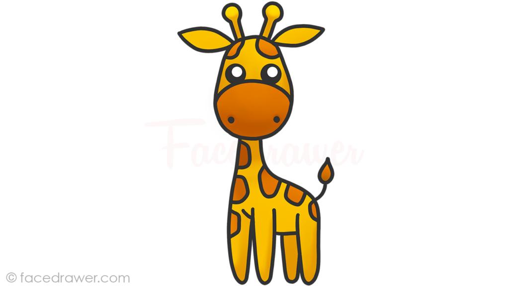 how to draw cute giraffe step 10