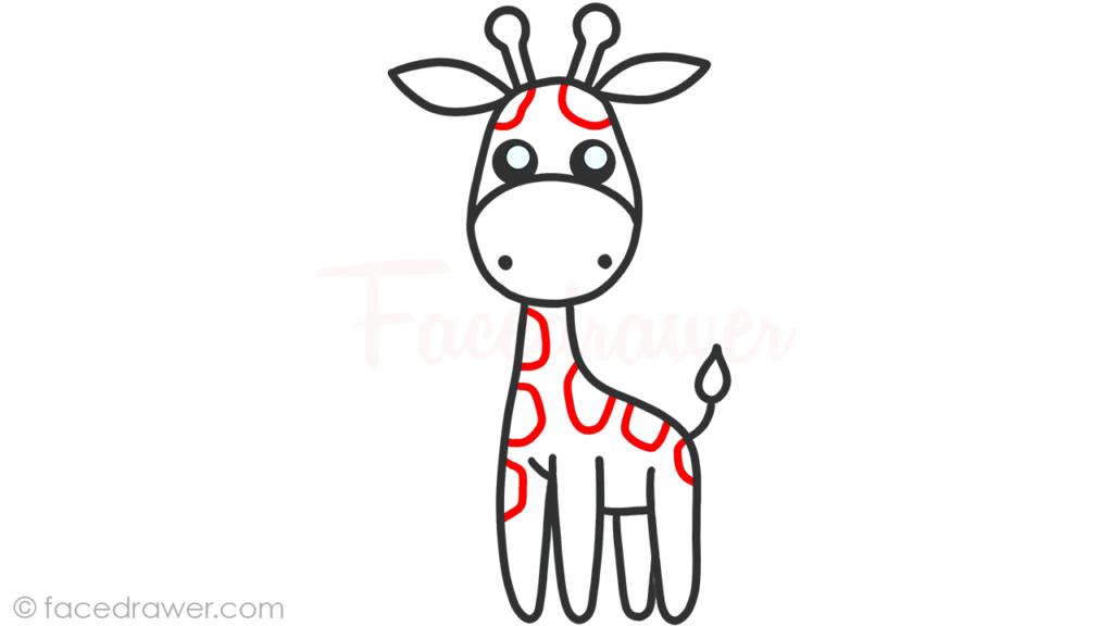 how to draw cute giraffe step 8