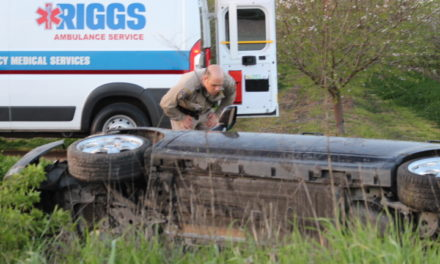 Vehicle rollover sends one woman to the hospital