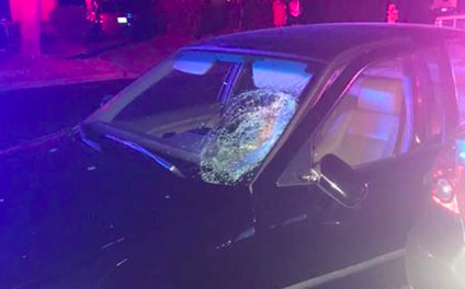 Pedestrian struck by vehicle, suspect flees in Merced