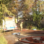 Trailer Park Fire in Winton, Families Displaced on Easter Sunday