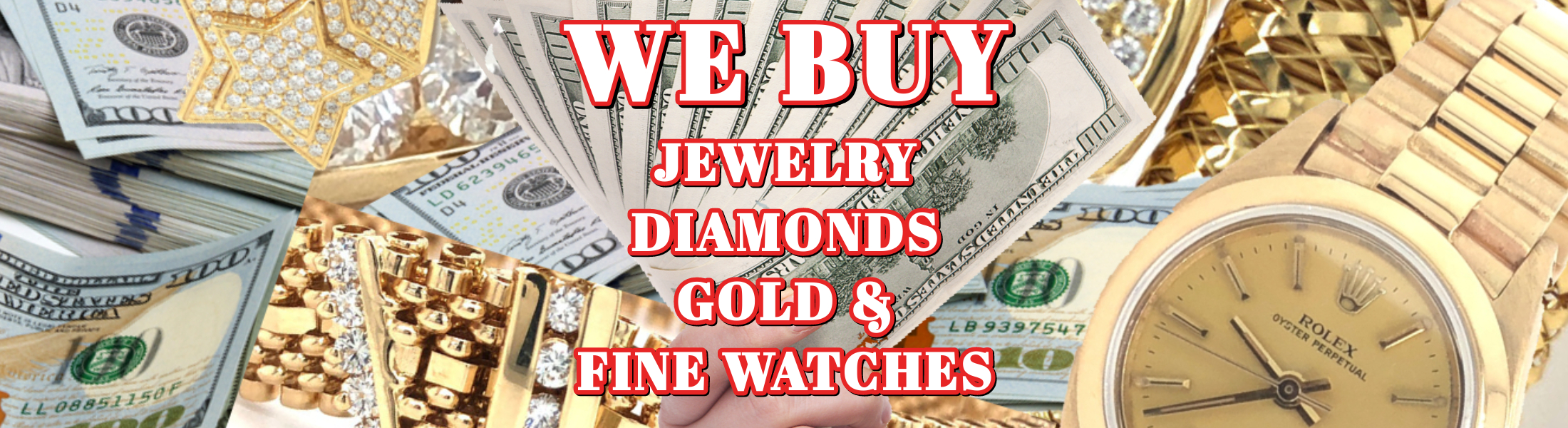 Sell Jewelry - Gold - Diamonds - Fine Watches - Sell Rolex Watches