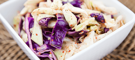 Close up of Cabbage Salad