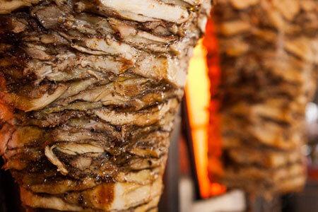 Chicken tarna on a spinning grill