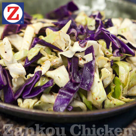 Close-up of cabbage salad