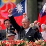 李登辉和中华民国国旗